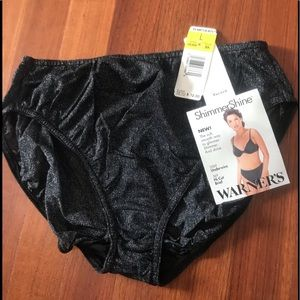 Warner's Shimmering Black Panties